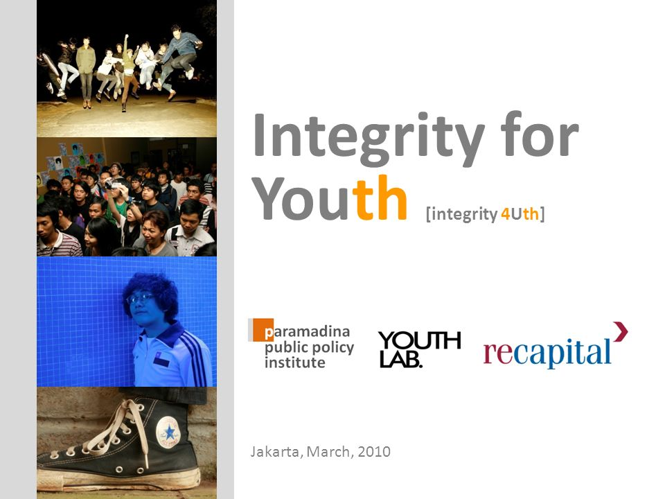 Integrity for Youth [integrity 4Uth]